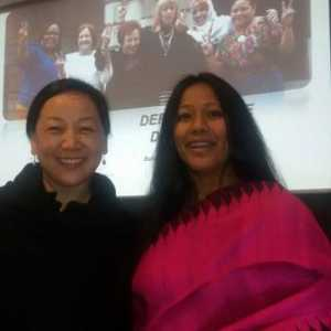 Photo with the graceful & erudite Ms Dicki Chhoyang,current Foreign Minister of the Central Tibetan Admin.(Panel discussion with her at the convening on Women Human Rights Defenders of Nobel Women Initiative 24-26 April)