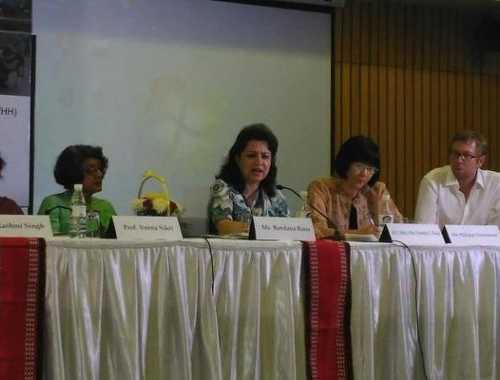 Ms Bandana Rana speaking at the event