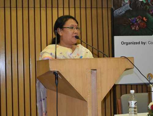 Ms Pratibha Brahma speaking at the event