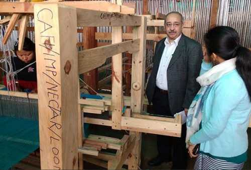 "Monitoring visit of NECTAR, Gov of India to ""Manipur Weaving & Bamboo Skills Centre"" 9 February 2016"