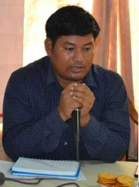 Mr. Raju Narzary Executive director of NERSWN, explaining the different facets of conflict in Kokrajhar since the last four decades