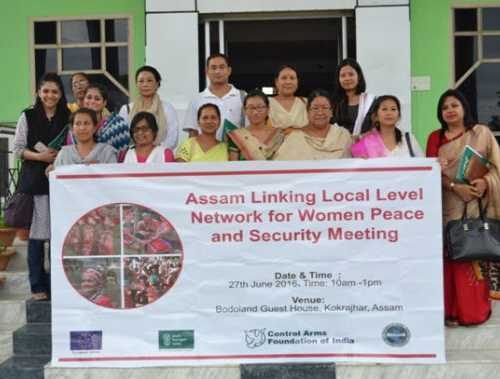Group Photo of interactive Linking Local Level Network for Women Peace and Security Awareness and Capacity Building Program to address the issues of Gender Based Violence, Racial Discrimination and Legal Mechanisms in Bodoland, Assam