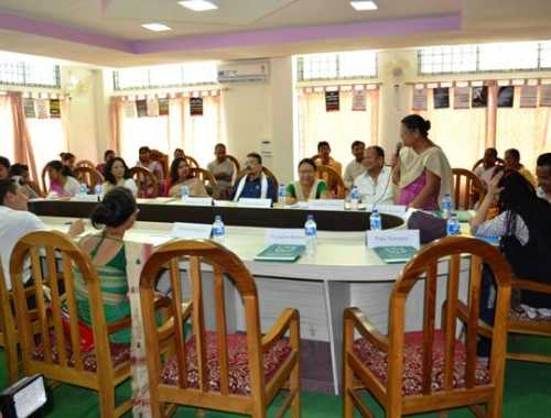 Panelist express their views on violence against women and current situation of conflict in Kokrajhar district