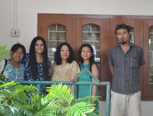 Group photo with Ms. Hukheli T-Wotra Former President Naga Mothers Association at her resident in Dimapur