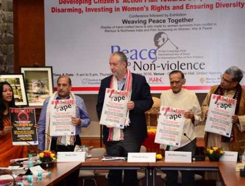 A campaign on WARonRape was launched at the event on 22 September