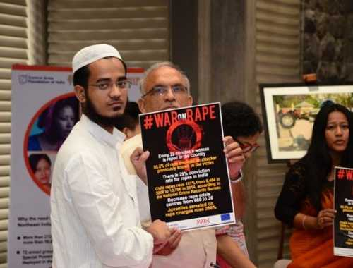A poster for WaronRape was launched during conference at UN, Delhi