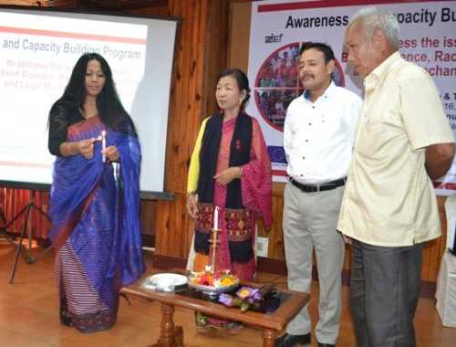 Lightning up the Candle, Awareness and Capacity Building Program to address the issue of Gender Based Violence, Racial Discrimination and                     Legal Mechanism in Manipur  Date& Venue: 7 October 2016, Siroy Conference Hall, Imphal Hotel