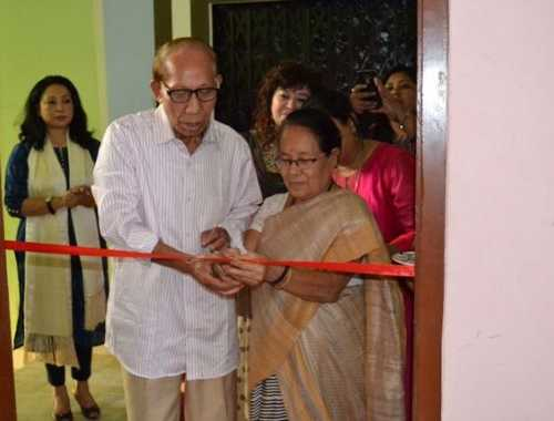 Inauguration & cutting of ribbon of  Northeast India Survivors Support , Peace & Diversity  Centre at Guwahati, Assam by Mr & Mrs. N. Bihari