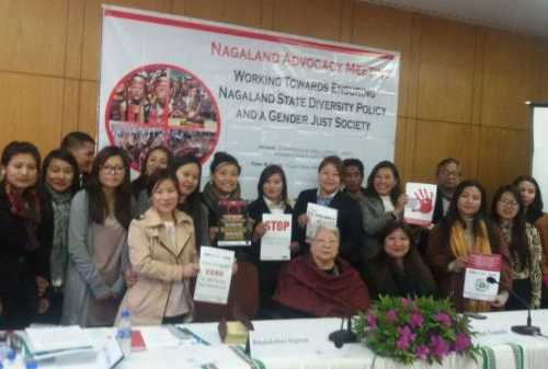 Nagaland Advocacy Meeting - Working Towards Ensuring Nagaland State Diversity Policy and A Gender Just Society at Hotel Japfu, Kohima, Nagaland on18th January 2017