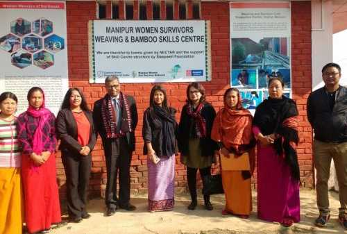 Visiting Mr. Prasenjit Gupta & Ms. Tinku Roy, U.S. Consulate Team at CAFI/MWGSN Office, Manipur