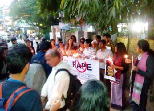 PROTEST - Against Brutal Sexual Assault & Rape on 18 Feb 2017 at Hauz Khas Village, New Delhi