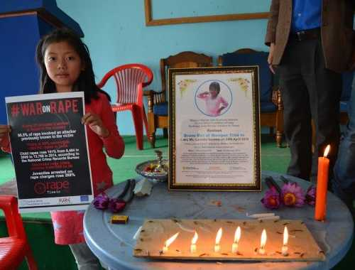 Observance of the Death Anniversary of Late Ms. Lansinliu Gonmei, Who was brutally raped and murdered at Chinikol Village, Bishnupur, Manipur on 28 February 2017at Manipur Press Club