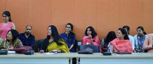 Binalakshmi Nepram at one of premier women's colleges,Lady Sriram #LSR on Women,War,Weapons & Militarisation~ Our efforts in NE to bring peace - 1 April 2017