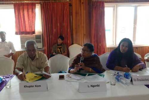 Ms Lourembam  Nganbi, Patroits Foundation, Manipur speakjng at Event