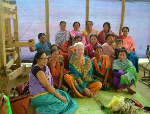With women groups Leimaram Village, Bishnupur, Manipur