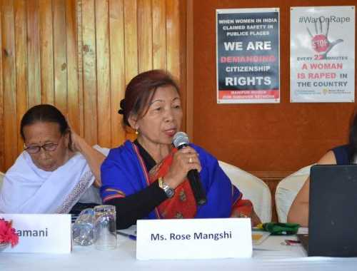 Mrs. Rose Mangshi, Advisor, Kuki Women Union