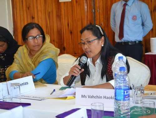 Ms Vahchin Haokip, President, Thadou Women's Union