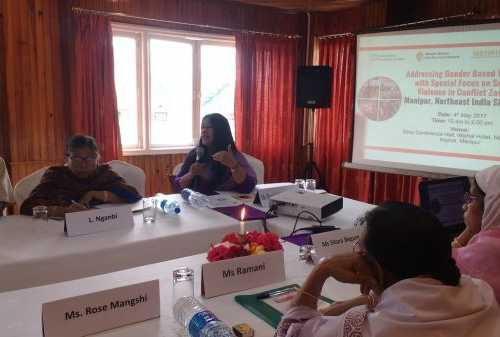 Introduction of meeting by Ms. Binalakshmi Nepram, Secretary General, Control Arms Foundation of India and Founder, Manipur Women Gun Survivors Network