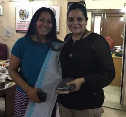 Binalakshmi Nepram with Dr.Deepali Bharadwaj, Official Doctor to President of India