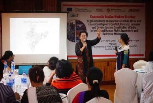 Community Justice Workers Training: Legal Assistance on Awareness on Rule of Law and its relationship with Conflict, Diversity, Inclusion and Gender Justice, Constitution of India, International Human Rights Framework, and Redressal Mechanism - 19-21 June