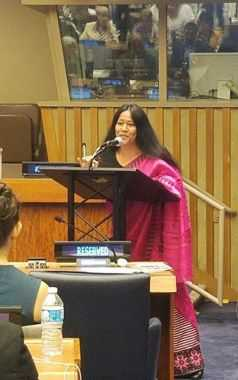 Founder-Secretary General CAFI & Manipur Women Gun Survivors Network speaks at Plenary Intergenerational Dialogue #SDGs at @UN HQ 1 Aug @UNDPINGO