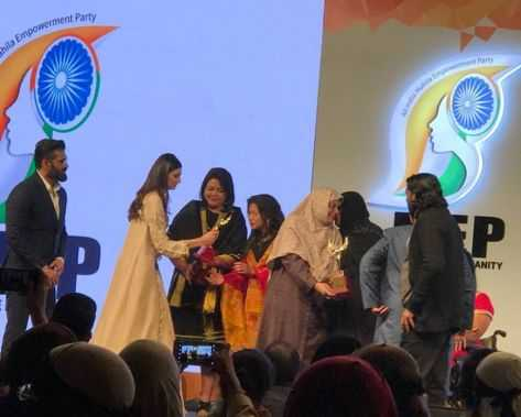 "Manipur Women Gun Surviors Network awarded with ""Exemplary Achievement in the field of Social Service"" by the All India Mahila Empowerment Party"