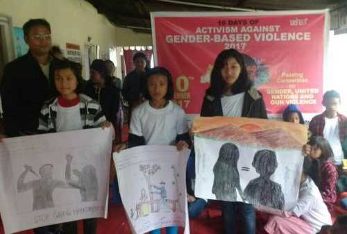 Successfully held Painting Competition on Gender, United Nations and Gun Violence at Imphal. Organised by Manipur Women Gun Survivors Network - 10 Dec 2017
