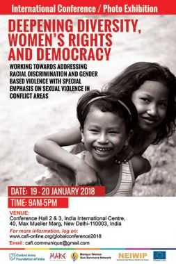 International Conference / Photo Exhibition: Deepening Diversity, Women's Rights and Democracy - 19-20 Jan 2018 at India International Centre, 40, Max Mueller Marg, New Delhi