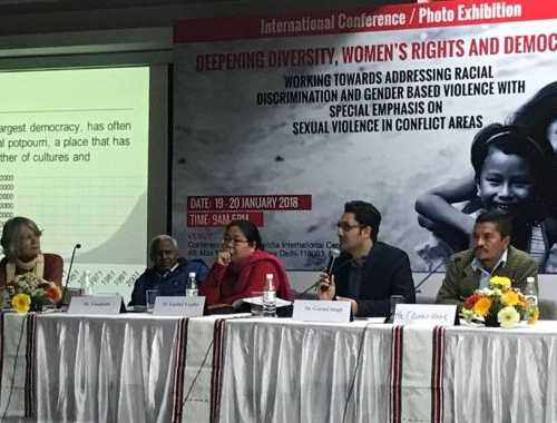 Romeo Hmar, Lianboi Lynn Vaiphei and Govind Singh from Delhi University speaks with strength and courage on highlighting racial violence against people from Northeast India