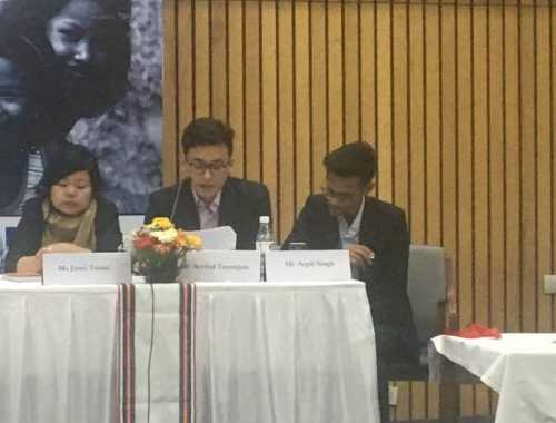 Manipur's Law Student Amity University, Arvind Tayenjam gave his statement at Conference