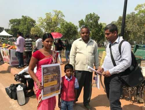 Awareness Raising on International Women's Day at India Gate on March 8, 2018
