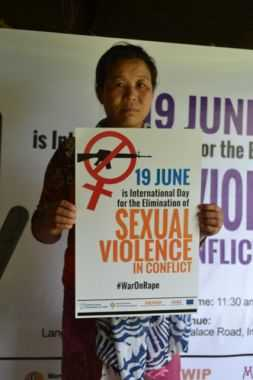 19 JUNE: International Day for the Elimination of Sexual Violence in Conflict successfully observed at MWGSN Office Imphal