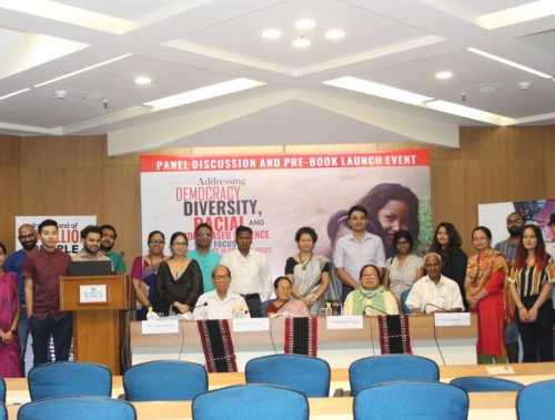 """Successfully launched book on """"Addressing Democracy, Diversity, Racial and Gender-Based Violence with Special Emphasis on Sexual Violence in Conflict Areas"""" at India Habitat Centre, New delhi - September 21, 2018"""